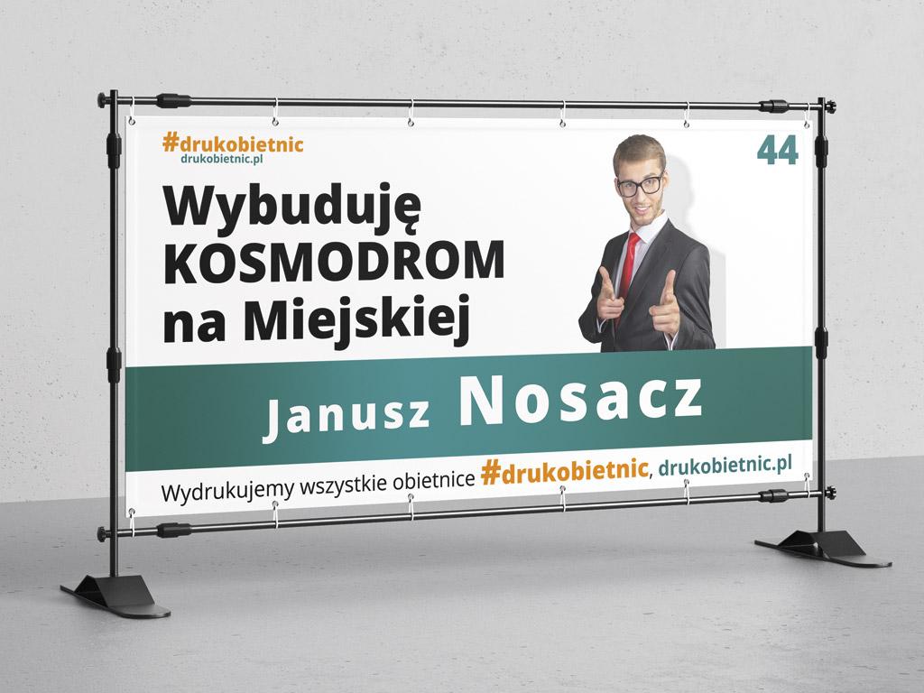 druk banerów wyborczych